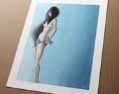 Teal Nude - 11x14 PRINT