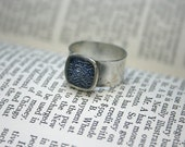 Security Envelope Ring - Small Blue Waves