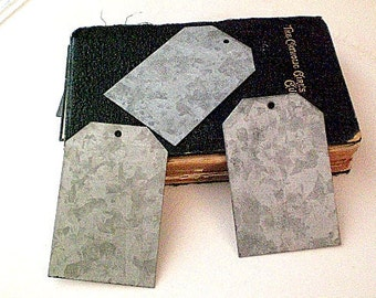 SALE Zinc Tags-Set of 3