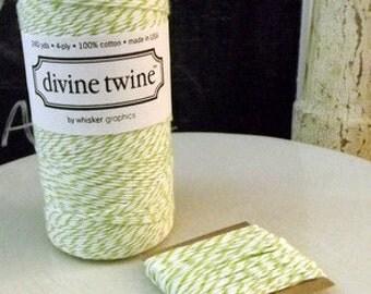 Cotton string Green Apple Divine Twine 10 yards