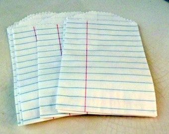 Notebook Paper Little Bitty Bags-Set of 10