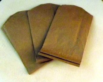 Plain Brown Kraft Little Bitty Bags-Set of 10