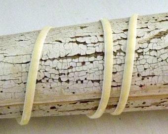 Ivory Velvet Ribbon 1/8 inch -3 Yards