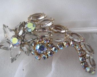 Juliana Style Clear Rhinestone Brooch