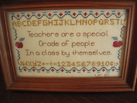Vintage Cross Stitch for Teachers
