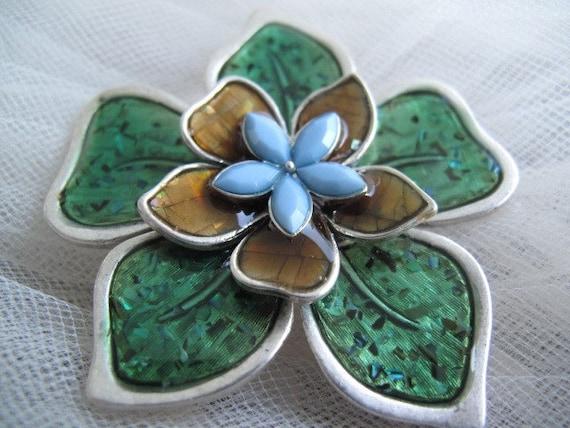 Liz Claiborne Flower Brooch