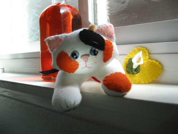 "Calico Kitten, ""Patches,"" a True Soft Heart (tm), RESERVED"