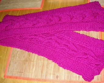Mulberry Wine Braid Cable Scarf