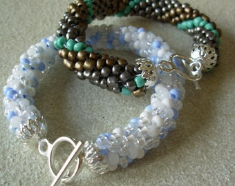 Custom Your Colors Crochet Glass Beaded Bangle