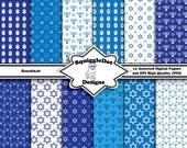 Digital Printable Paper for Cards, Crafts, Art and Scrapbooking Set of 12 - Hanukkah - Instant Download
