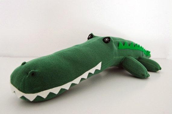 Green Sock Croc - Sock Animal Toy