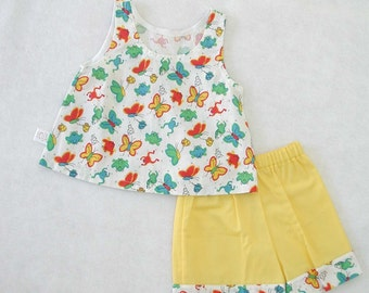 Little Girls Shorts Set