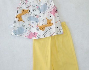 Little Girls Capri Set