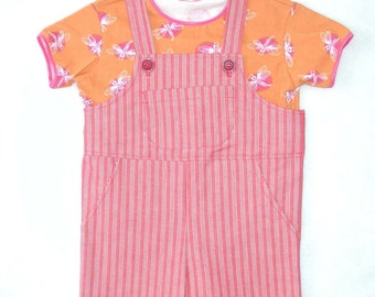 Girls Shortalls with Dragonfly Shirt