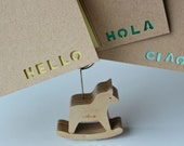 SALE - Hello stencil note cards - Set of 3 - Hello Hola Ciao