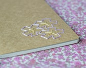 SALE - Cherry blossom notebook - Sakura hand embroidered moleskine (lined) and mini bookmark