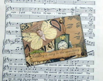 Vintage Style ACEO,Mixed media collage