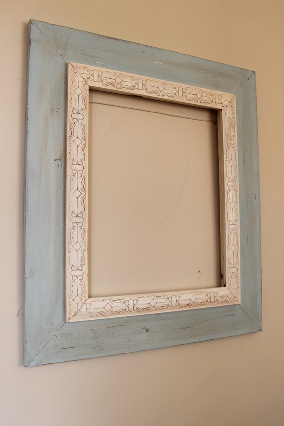 16x20 Distressed Open Back Frame Rain And By Deltagirlframes