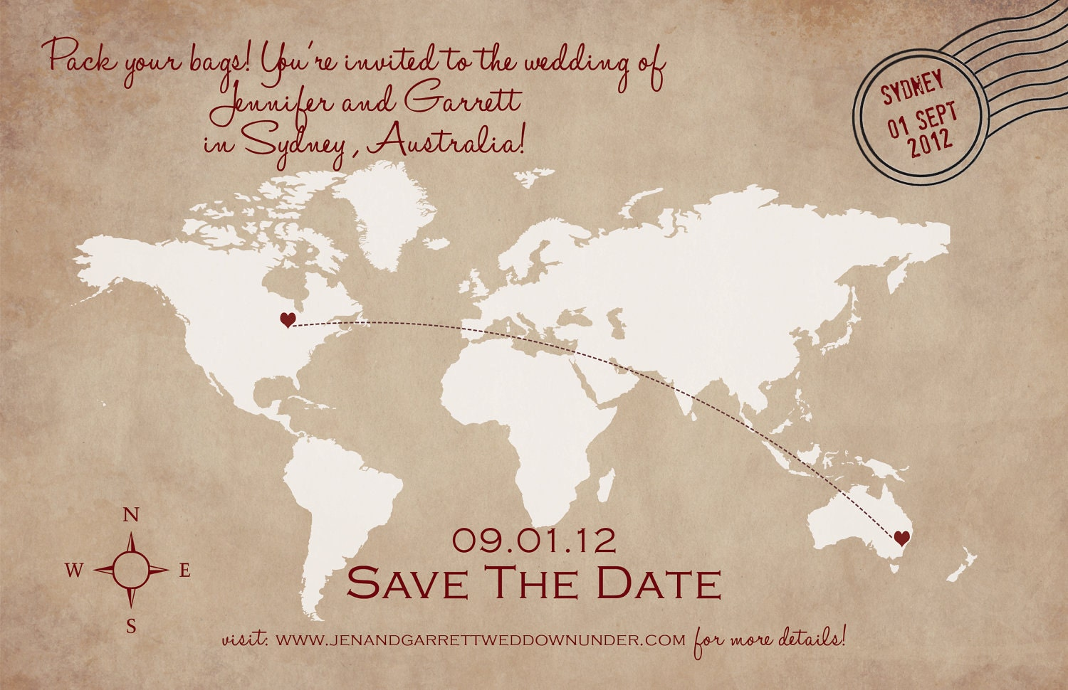 Electronic save the date in Sydney