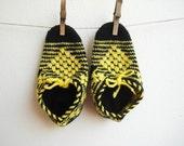 Crochet Women's Slippers children unisex  size  6 -6.5