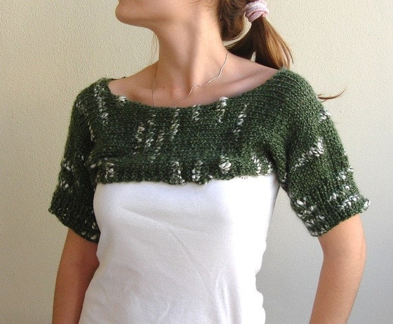 Hand Knitted Cropped Short Neck cozy Sweater Spring Fashion