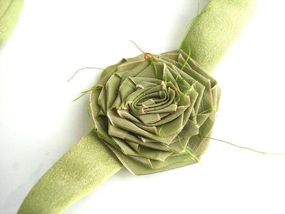 Light green belt for  flower girls