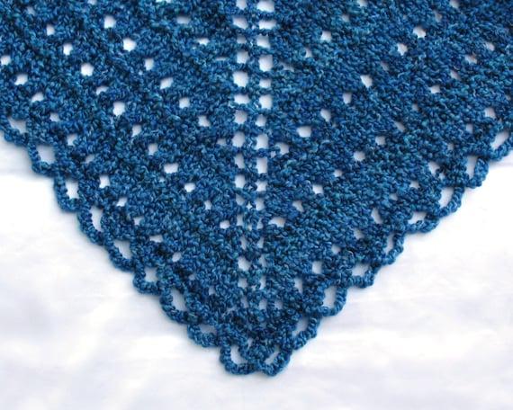 Triangular Prayer Shawl Knit Pattern : Knit Prayer Shawl Triangular Lace Shawl Hand Knitted Shawl