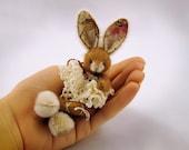 Miniature bunny pdf pattern, Easter rabbit emailed PDF PATTERN, how to make a bunny, miniature bunny tutorials, mini rabbit pattern to sew