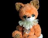 Artist bear fox cub PATTERN Toddy - emailed PDF - by Tatiana Scalozub