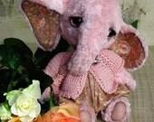 Artist elephant emailed PDF PATTERN Ellias by Tatiana Scalozub