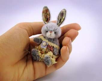 Miniature Easter rabbit PATTERN PDF, mini bunny sewing patterns for stuffed animals,  pdf pattern for bunny, how to make a rabbit, diy bunny