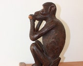Carved Monkey Statue - African