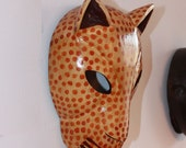 Carved Leopard Mask