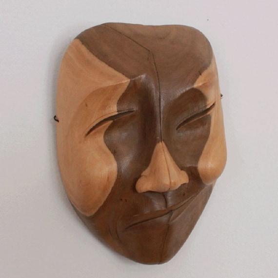 Carved Mask Happy Sad Face