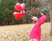 Vintage ADDICTED TO LOVE Honeysuckle Pink Cotton Blend Shirtwaist Dress