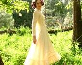 Prairie Dress Yellow Gingham THE BEES KNEES