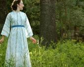 1970s Folk Maxidress... Fairy Tale Boho Dress... PRINCESS OF MIDSUMMER (m)