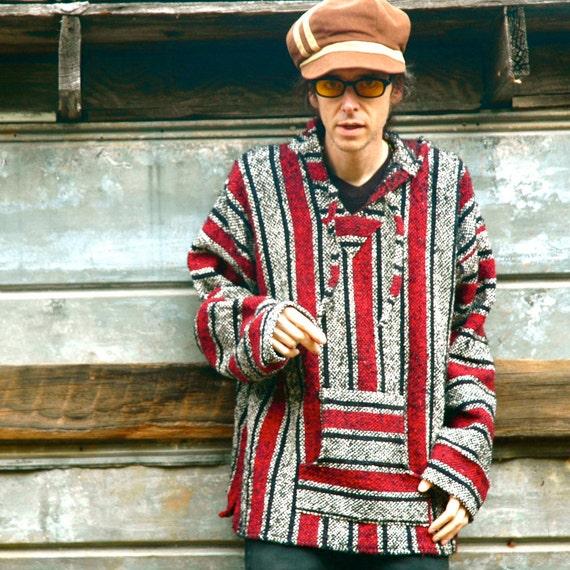 Men's Vintage Baja Hoodie... 90s Baja Hoodie... Aztec