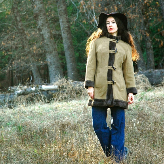 S A L E...... Folkloric Jacket... Nordic Coat... 70s Boho Jacket... MOOMINLAND IN WINTER (s/m)