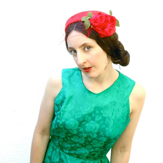 1960s Jonathan Logan Dress... Emerald Green Dress And Jacket Set... EMERALDS of MAY (s/m)