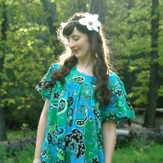Paisley Dress... Cotton Summer Dress... Hippie Chic.... PAISLEY DAZE (m/l)