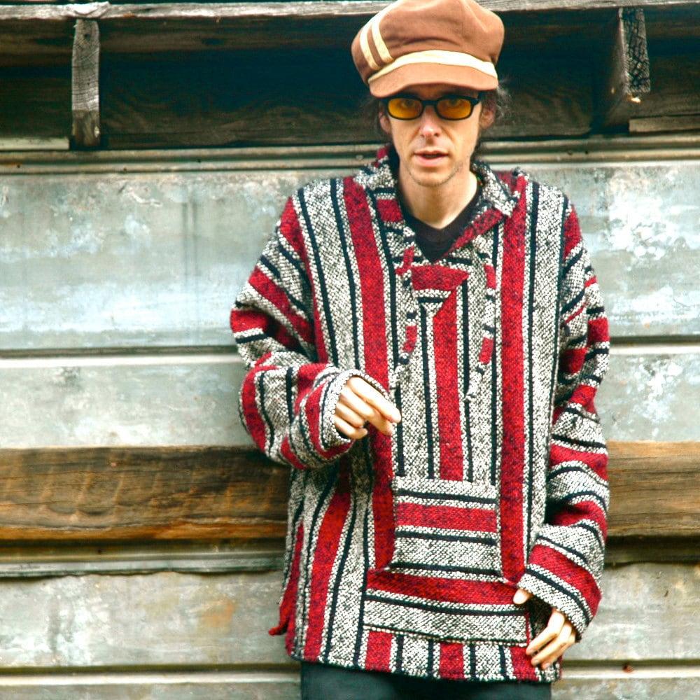 Men S Vintage Baja Hoodie 90s Baja Hoodie Aztec
