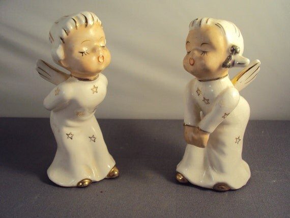 Vintage Kissing Angels Made In Japan Frazee Freres By Twojs