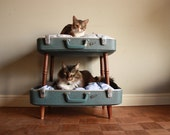 RESERVED FOR BOBBIE - Cozy Cargo Suitcase Bunk Bed - Cats Paradise - Eco Chic Upcycled Luggage