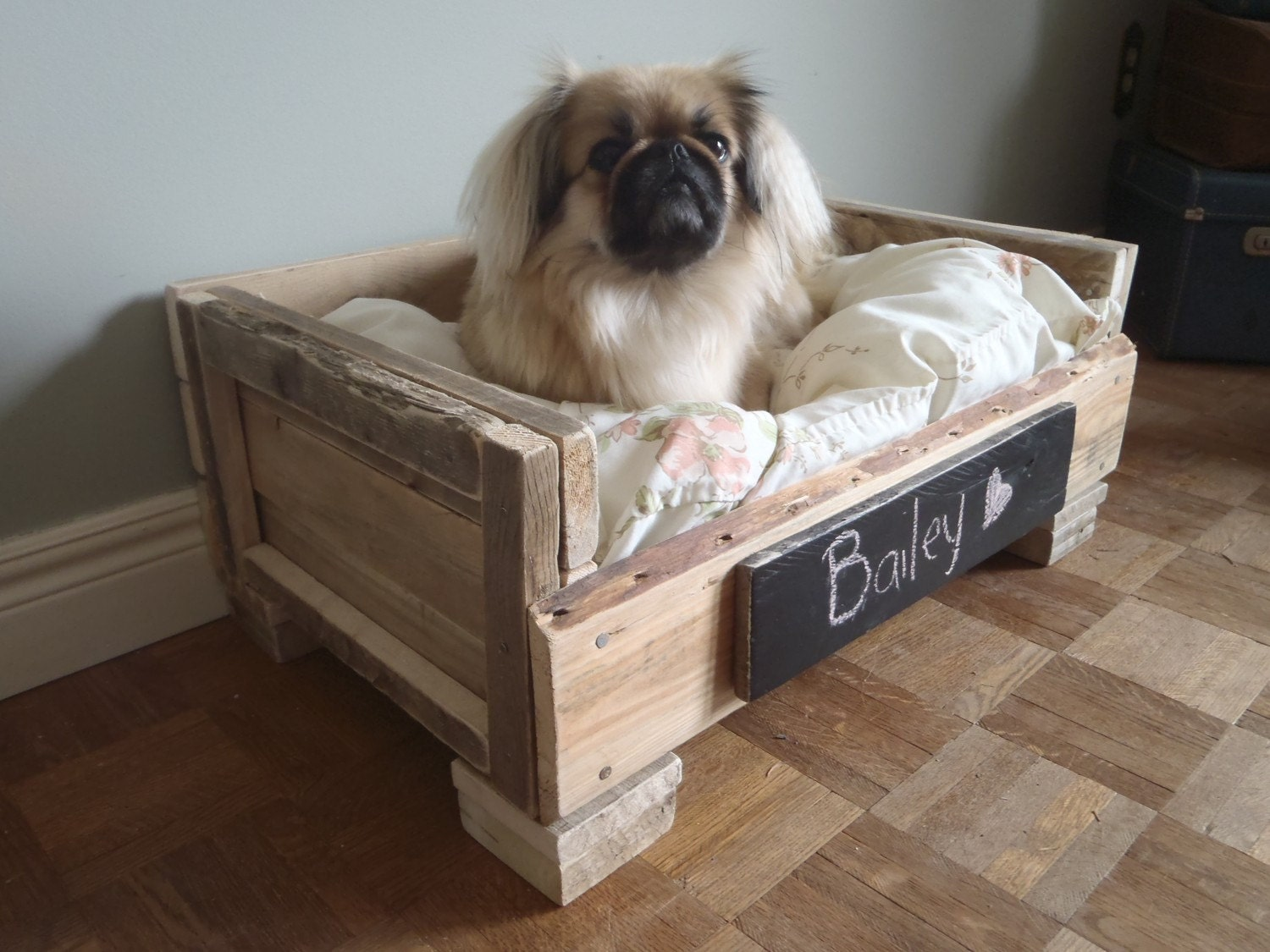 Very Impressive portraiture of RESERVED Reclaimed Wood Pet Bed Natural and by WildandRavenHome with #382C23 color and 1500x1125 pixels