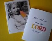 Inspirational Scripture Notecard - Heavenly Delight - 1 Christian Scripture Card