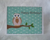 Owl Birthday Notecard - Have a Hoot of a Birthday Note Card -1 Card