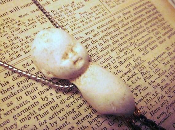 Dear Charlie Frozen Charlotte Doll  Necklace