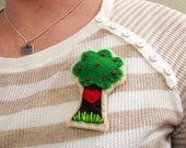 Little Love Tree Felt Brooch