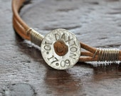 CUSTOM MANBAND - for the GUYS - mens, custom and personalized, leather, hand stamped sterling bracelet